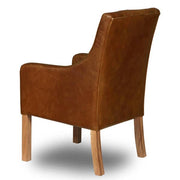 Morton Leather Dining Chair back
