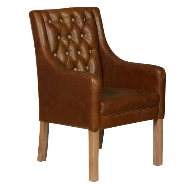 Morton Leather Dining Chair Cutout