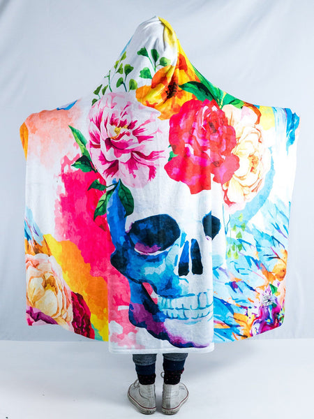 Life and Death Hooded Blanket Hooded Blanket Electro Threads