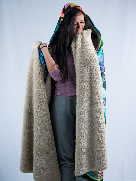 Meditating Rafiki Hooded Blanket Hooded Blanket Electro Threads