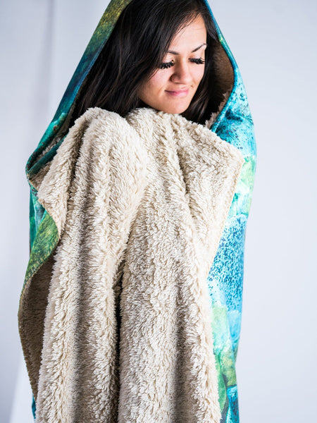 Mystic Mushrooms Hooded Blanket Hooded Blanket Electro Threads