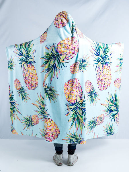 Pastel Pineapple Hooded Blanket Hooded Blanket Electro Threads