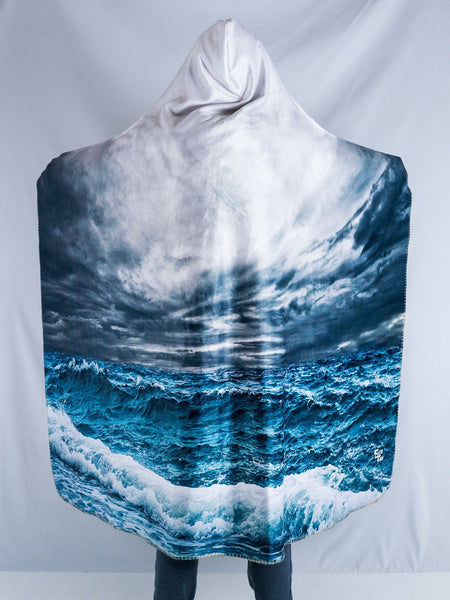 Stormy Ocean Hooded Blanket Hooded Blanket Electro Threads