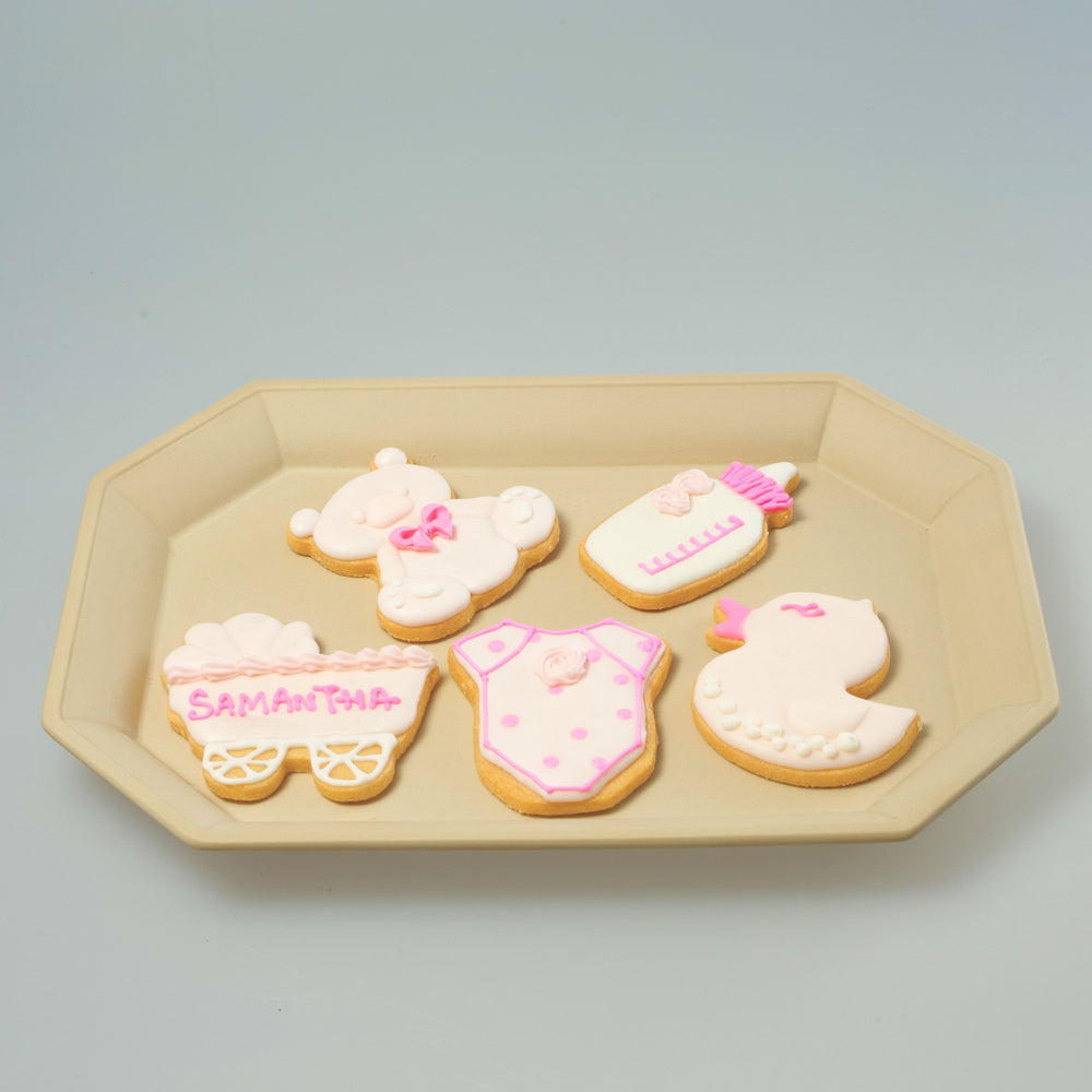 Babies / Kids party Icing Cookies (Pink)