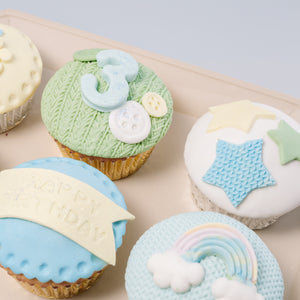 Baby Shower Fondant cupcakes (For Boy)