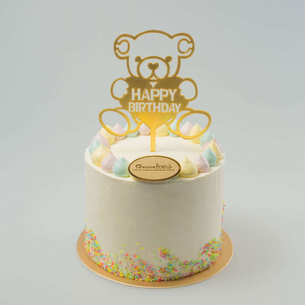 Tall Cake - Birthday Bear
