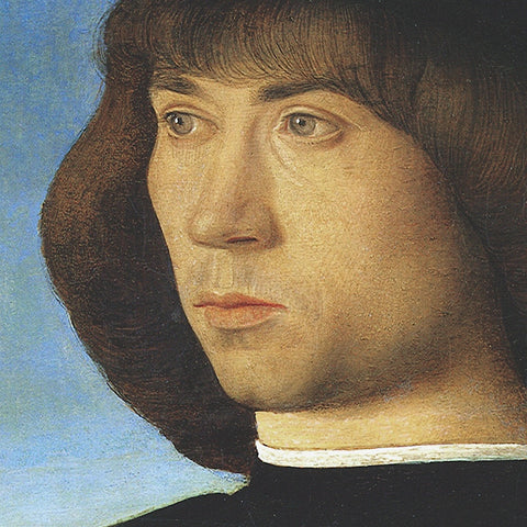 Giovanni Bellini - Portrait of a Young Man (detail)