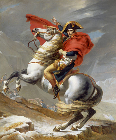 Jacques Louis David - Napoleon Crossing the Alps, 1802