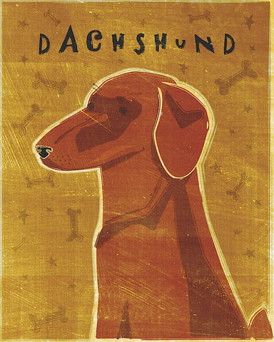 John W. Golden - Dachshund (red)