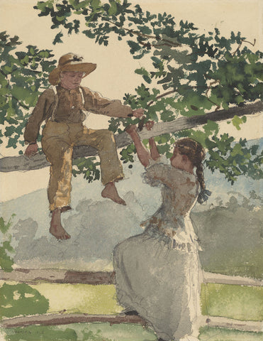Winslow Homer - On the Fence, 1878
