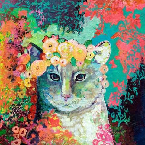Jennifer Lommers - My Cat Naps in a Bed of Roses