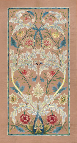 William Morris - Panel of floral embroidery, circa 1875 –80