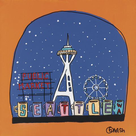 Brian Nash - Seattle Snow Globe