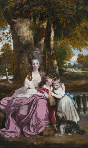 Sir Joshua Reynolds - Lady Elizabeth Delmé and Her Children, from 1777 until 1779