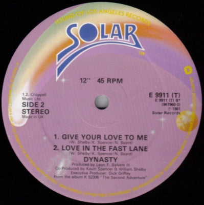 DYNASTY - Love In The Fast Lane