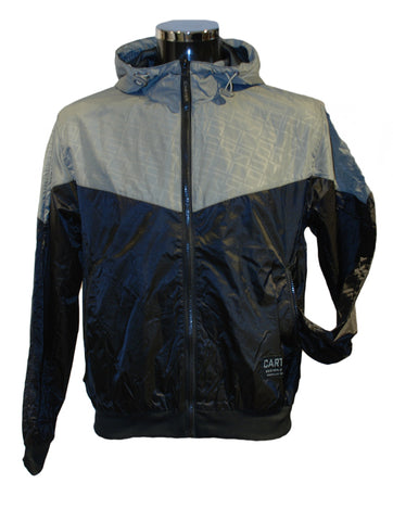Mens Light Jacket Janeiro with a Full Zip in Grey & Black by Carter