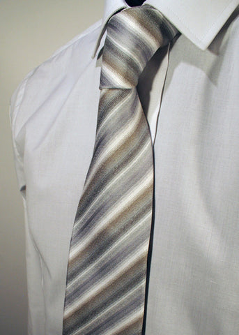 Mens Designer Fashion Tie Kensington by Daniel Christian in All Over Stripe Design