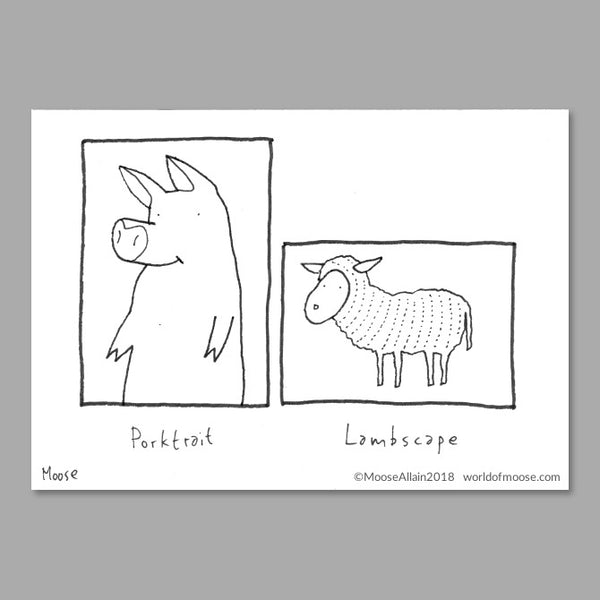 Porktrait Cartoon