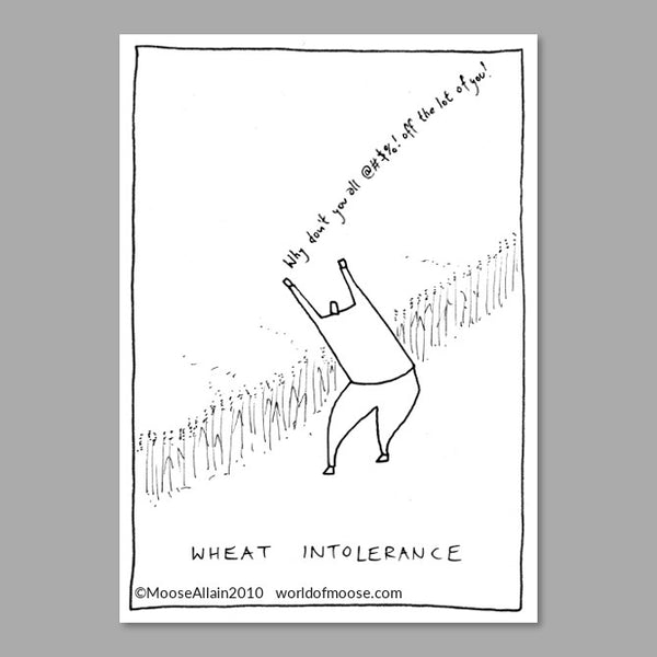 Wheat Intolerance Cartoon