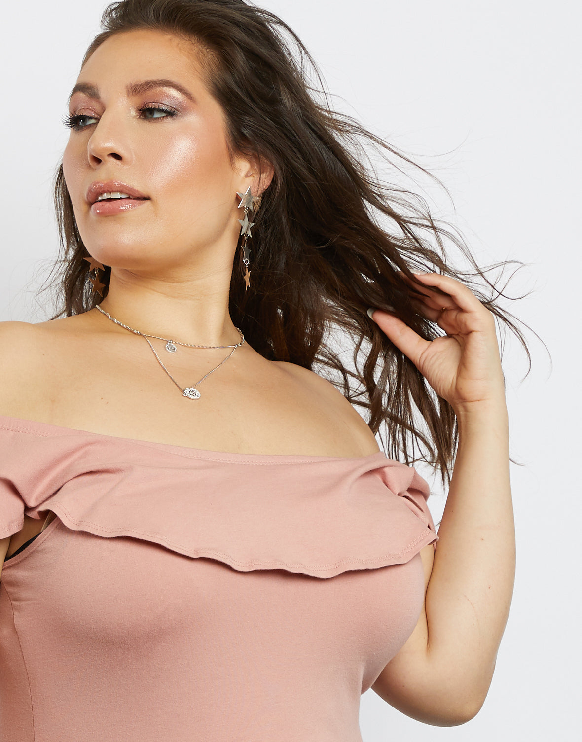Plus Size Kaylie Off-The-Shoulder Bodysuit