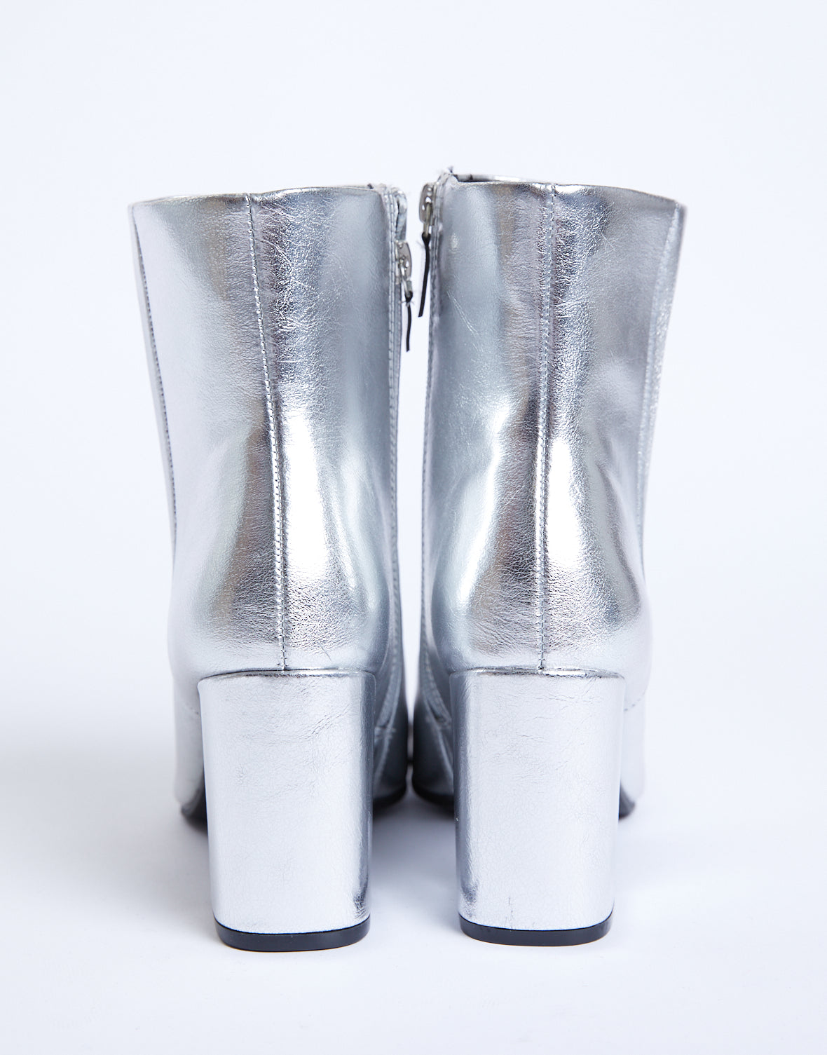 Shine On Metallic Ankle Boots