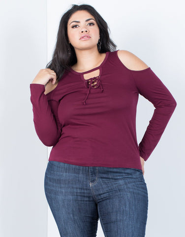 Plus Size Minimal Ties Top - 2020AVE