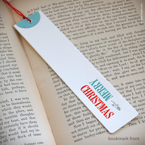 """Merry Christmas"" Gift Tag Bookmark (#348)"