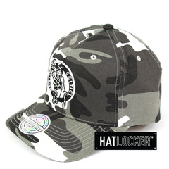 Mitchell & Ness Boston Celtics Grey Camo 110 Curved Snapback