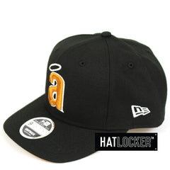 New Era California Angels Black Tan Precurved Snapback Cap