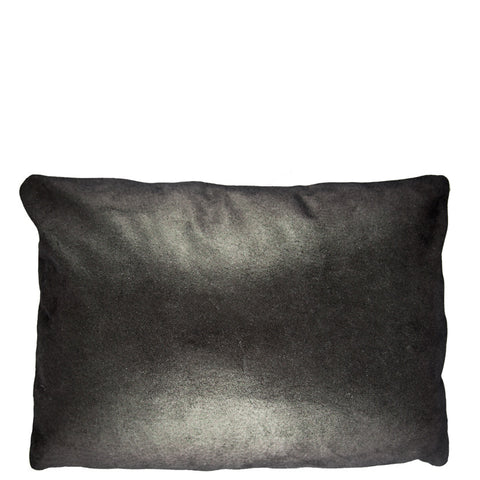 12X16 Leather Throw Pillow - METALLIC BLACK