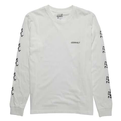 Long Sleeve Logo Tee - White