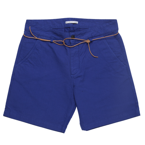 Sunset Shorts - Textured Royal Blue
