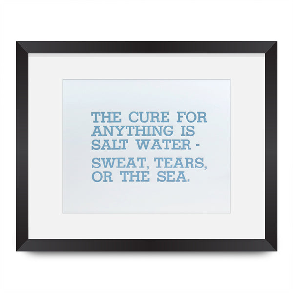 Salt Water Quote Letterpress Print