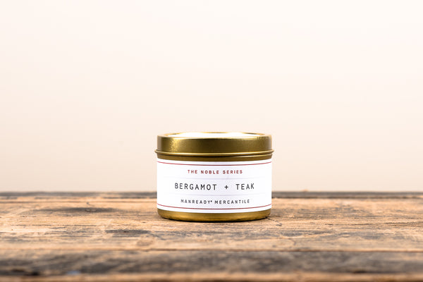 Manready Mercantile Bergamot Teak Travel Candle Noble Series Soy Wax Fragrance Oils Apothecary