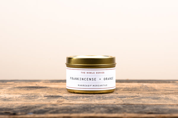 Manready Mercantile Frankincense Orange Travel Candle Noble Series Soy Wax Fragrance Oils Apothecary