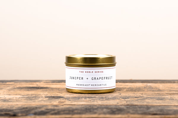 Manready Mercantile Juniper Grapefruit Travel Candle Noble Series Soy Wax Fragrance Oils Apothecary