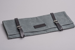 Knife Roll | Charcoal Waxed Canvas | Hardmill