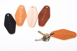 Leather Motel Key Tag | Made In Texas
