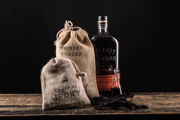 Manready Mercantile Whiskey Soaked Campfire Jerky Bulleit Bourbon Texas Black Angus Beef available at Manready Mercantile and manready.com