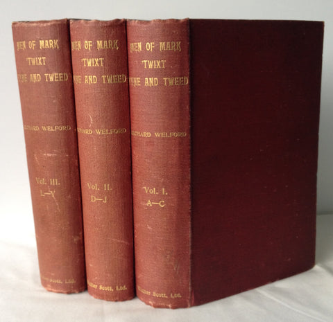 Richard Welford - Men of Mark 'Twixt Tyne & Tweed - Signed - 3 Vols 1895