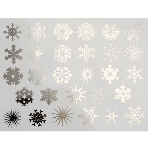 Decal Snowflakes Silver