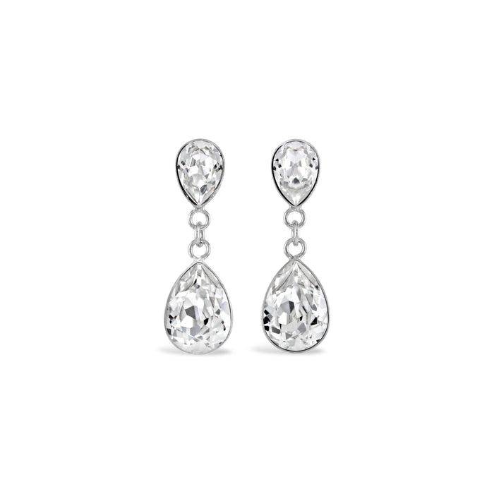 Copy of Ceroc Swarovski Droplet Stud Earrings (Crystal Clear)