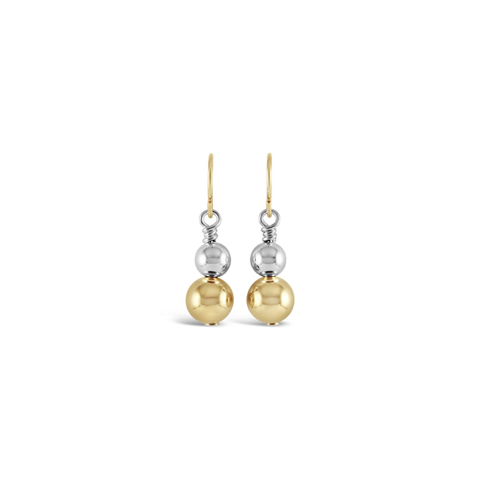 Copy of Sterling Silver & 14k Gold-Filled Drop Earrings