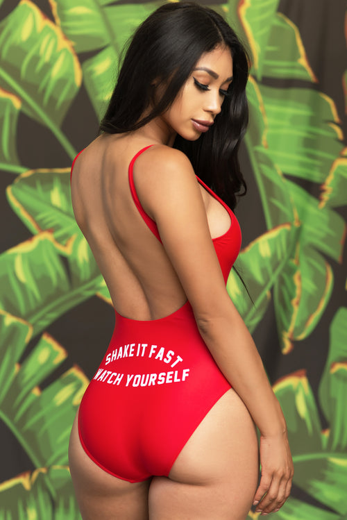 Shake It Fast Swimsuit - Red