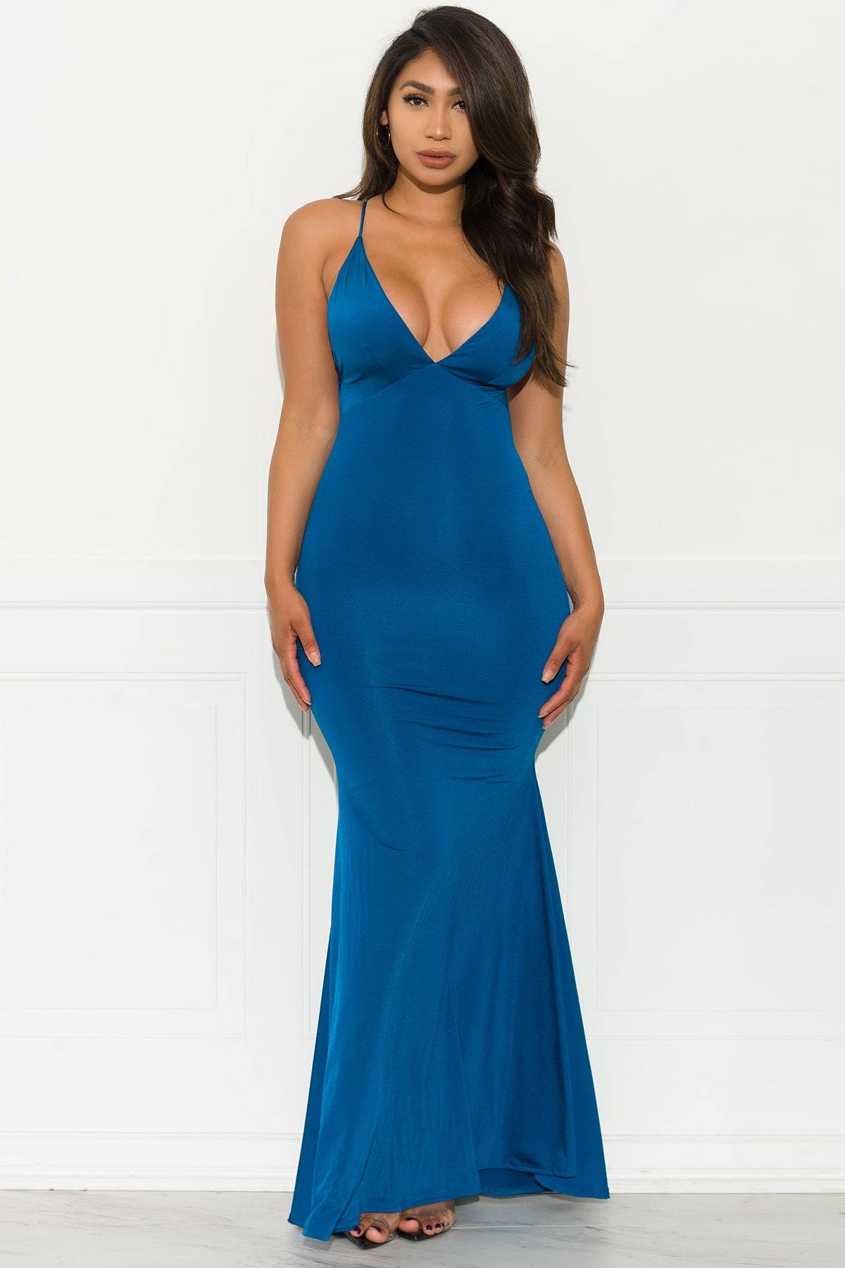 Elegant Affair Dress - Indigo Blue