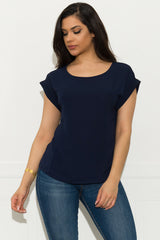 Juliana Blouse - Navy