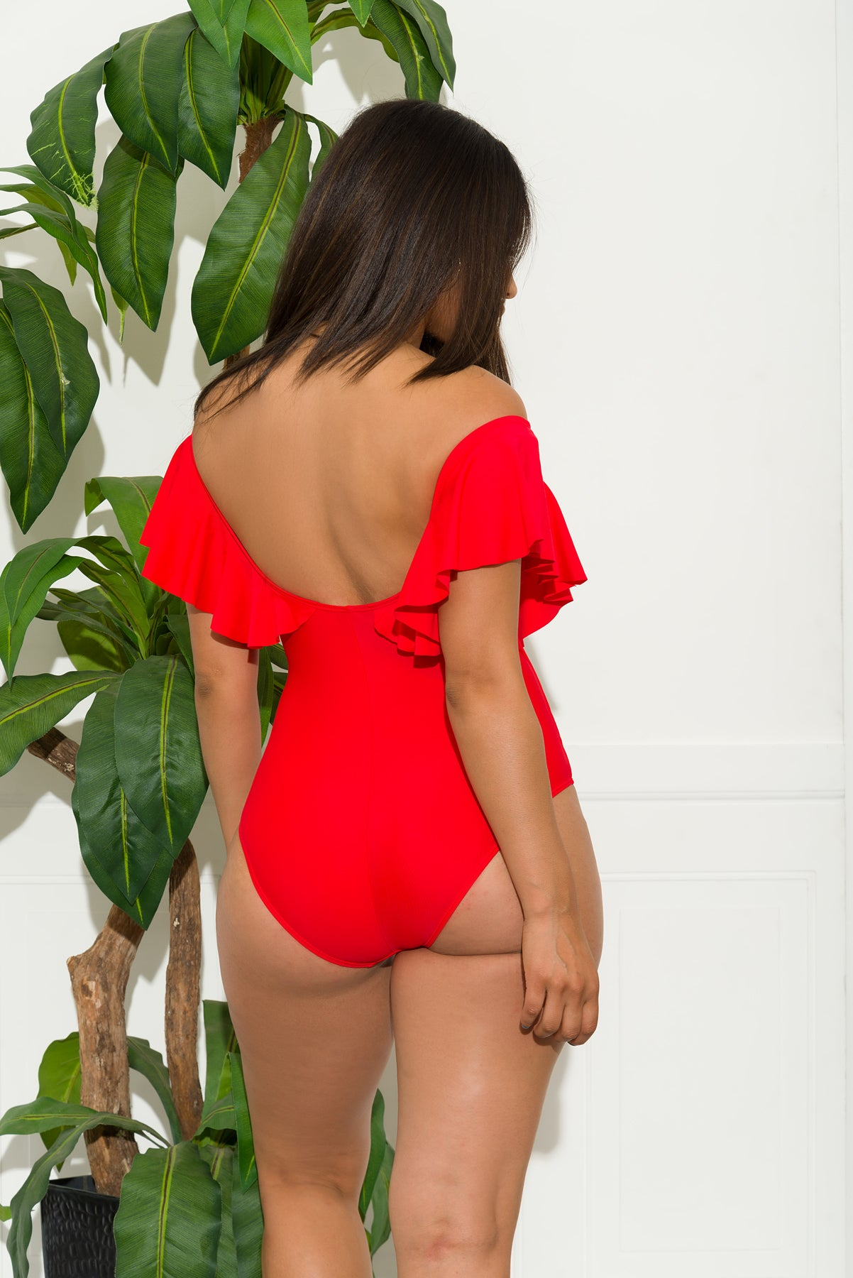 Boracay One Piece Swimsuit-Red
