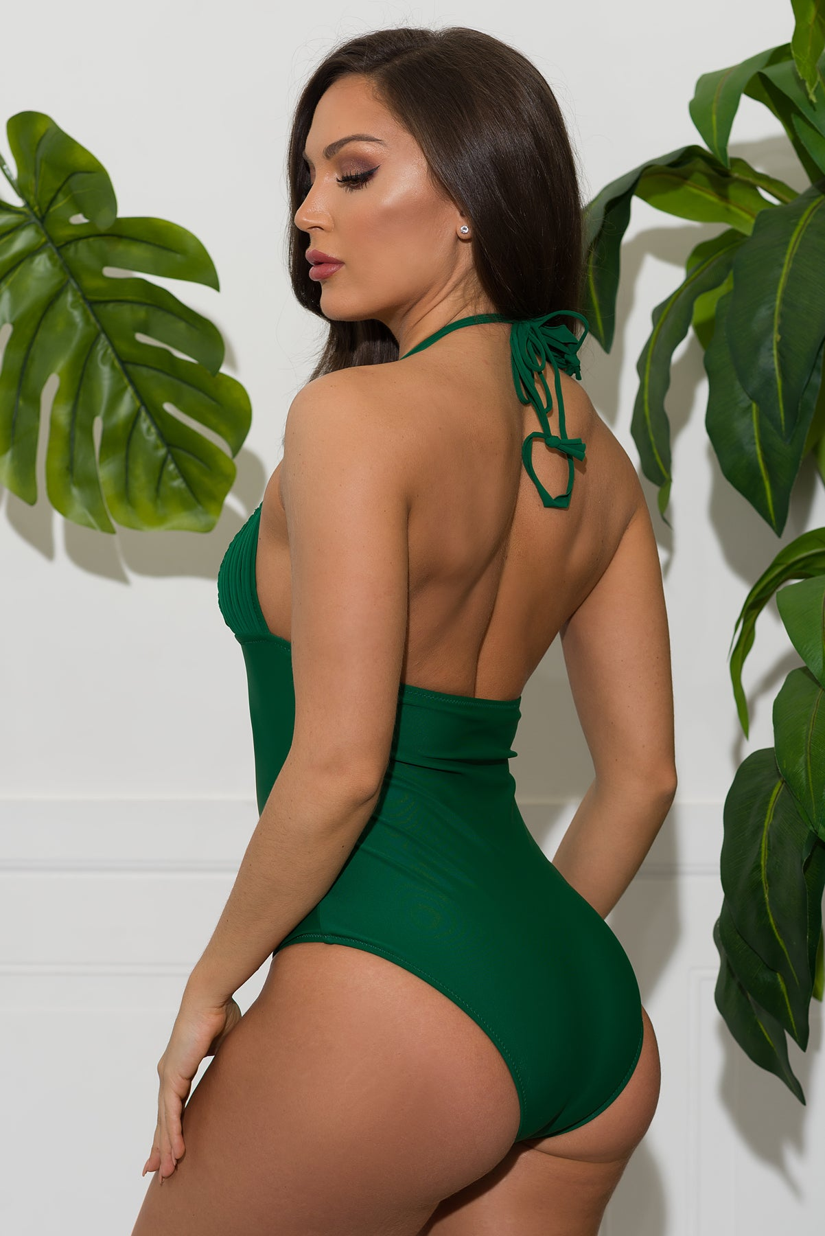 Salty River One Piece Swimsuit - Green