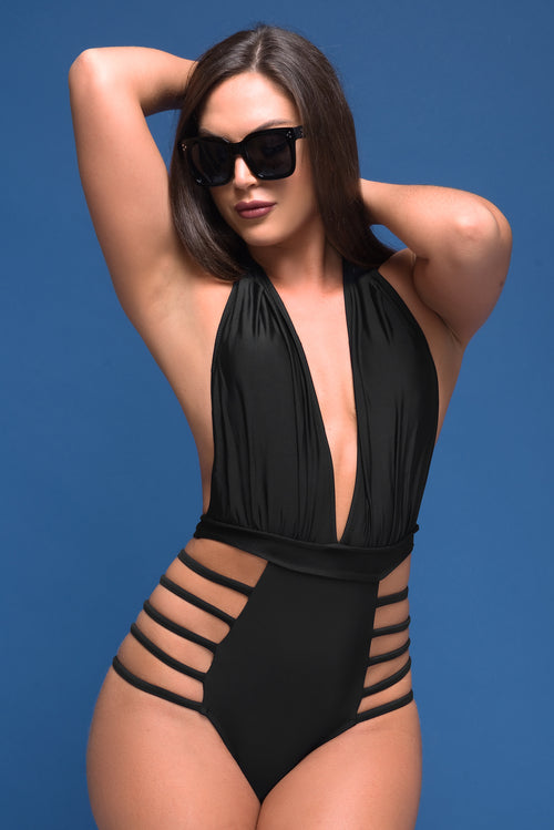 Golden Sands Swimsuit Black