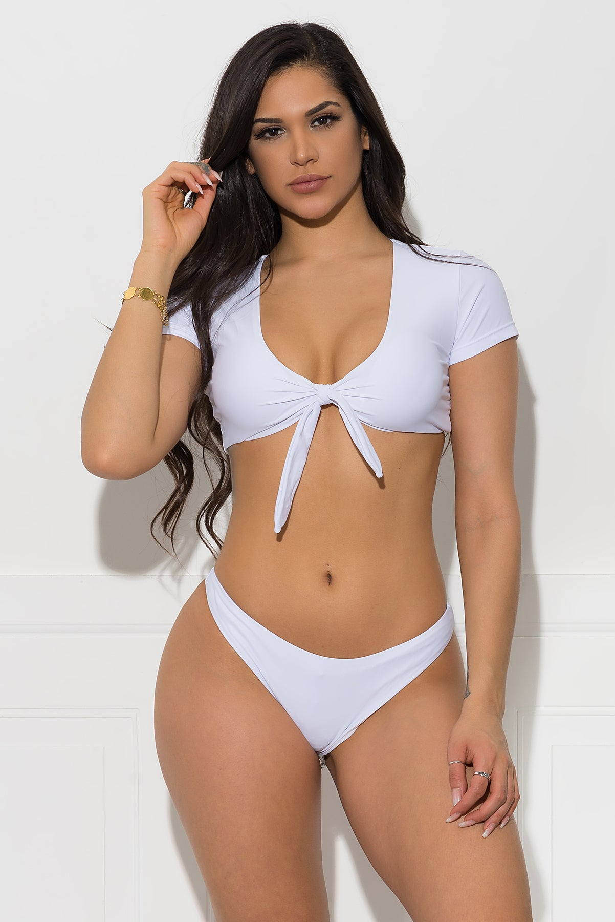 Saint Tropez Two Piece Swimsuit - White